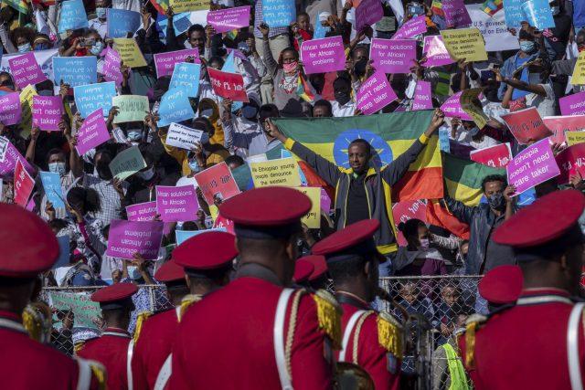 Protests in Ethiopia against US sanctions