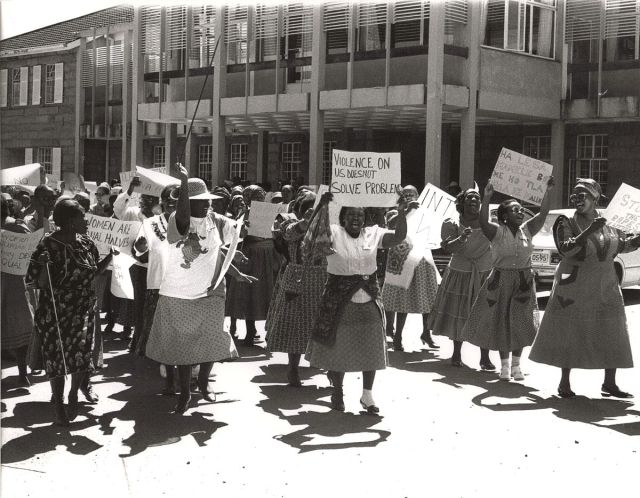 A National Women's Day march in Azania (South Africa)