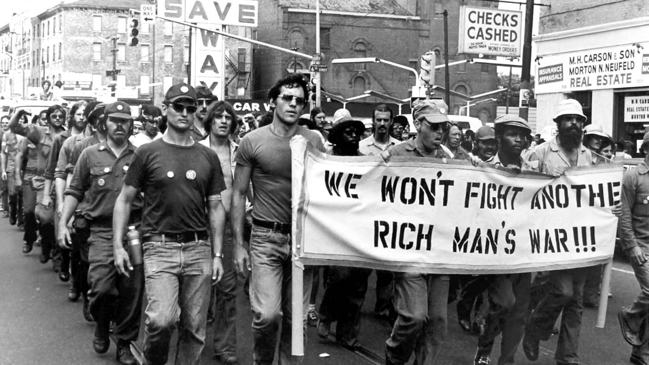 US military veterans marching against war
