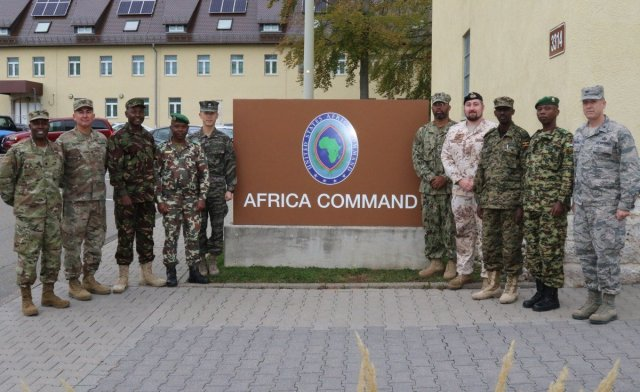 American and African military forces at AFRICOM headquarters