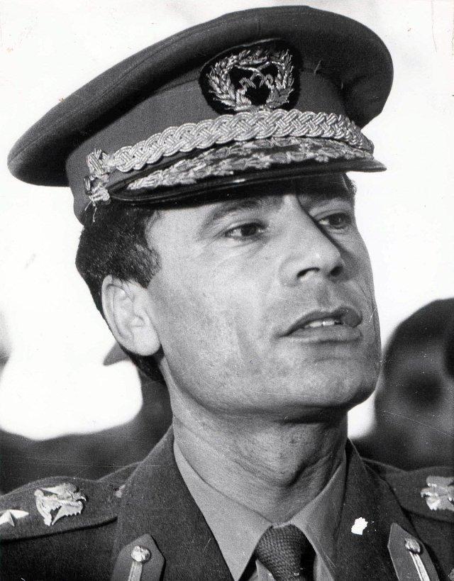 Qadaffi as a young man.