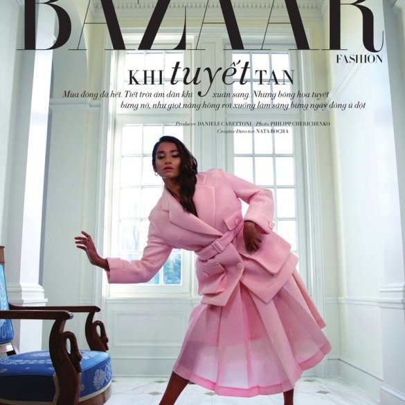 Nidhi Sunil for Harper's Bazaar Vietnam April 2020 issue. Photographed by Philipp Cherichenko and styled by Nata Bocha.