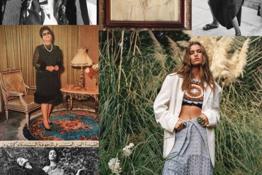 Faretta Radic, Luna Bijl, Malika El Maslouhi, Marisa Berenson, Nora Attal, and Tilila Oulhaj feature in 'In Another Land' for British Vogue May 2020 issue. Photographed by Sean Thomas.