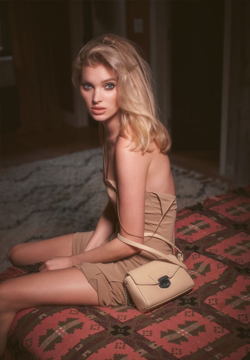 Elsa Hosk for Lancaster Spring 2020 Campaign. Photographed by Guy Aroch and styled by Celia Azoulay.