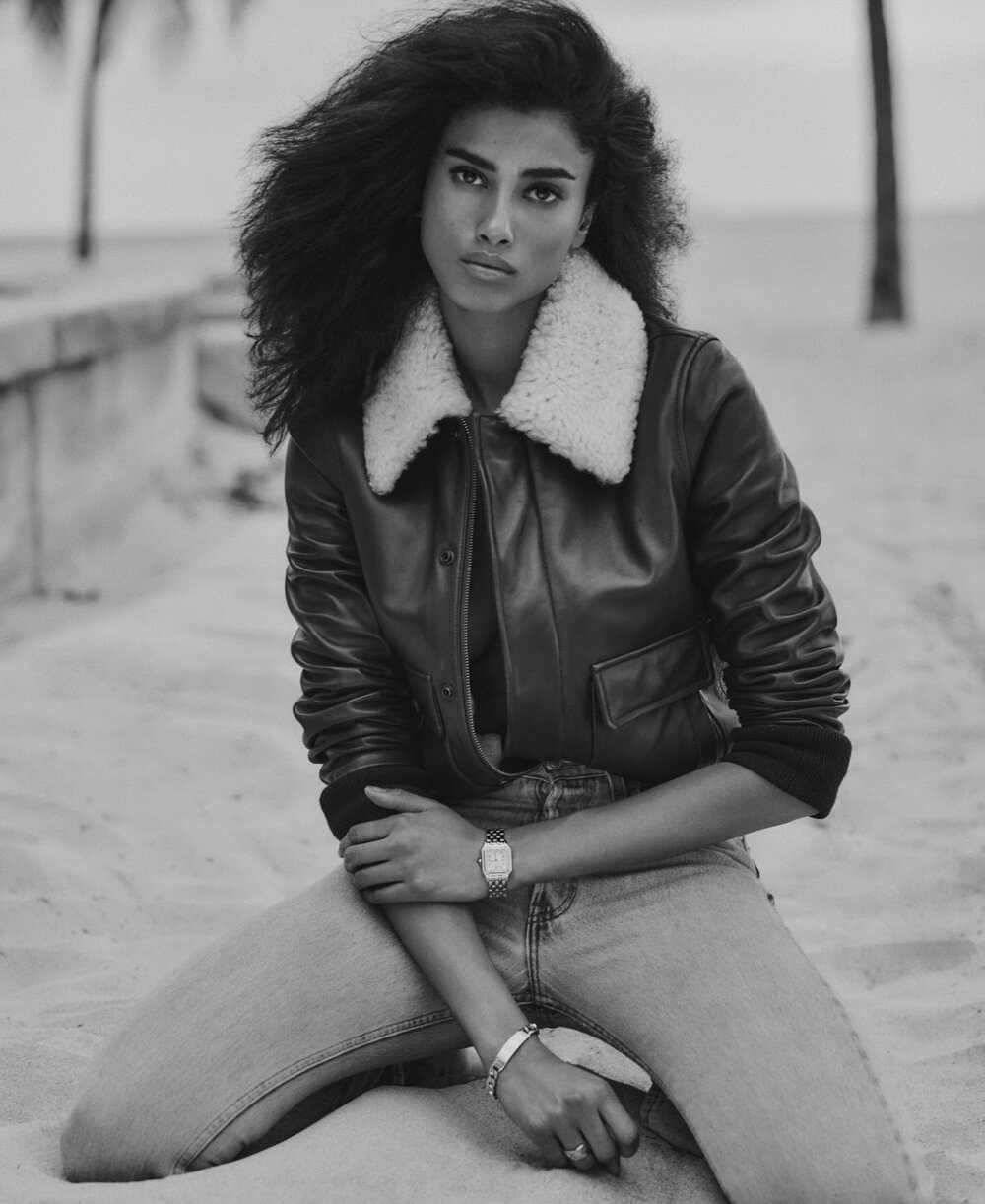 Imaan Hammam for ELLE US June-July issue. Photographed by Chris Colls.