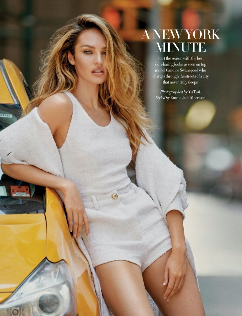 Candice Swanepoel covers the September 2020 issue of Harper's Bazaar Singapore