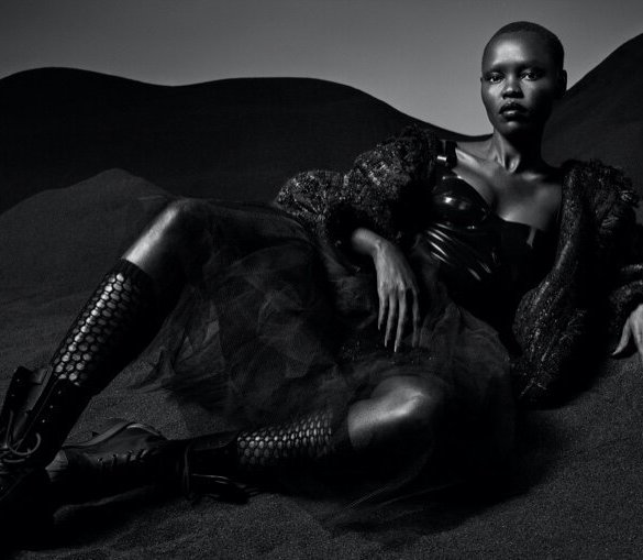 Grace Bol for the Culture Issue of Slimi Magazine. Photographed by Jason Kim and styled by Daniel Edle.