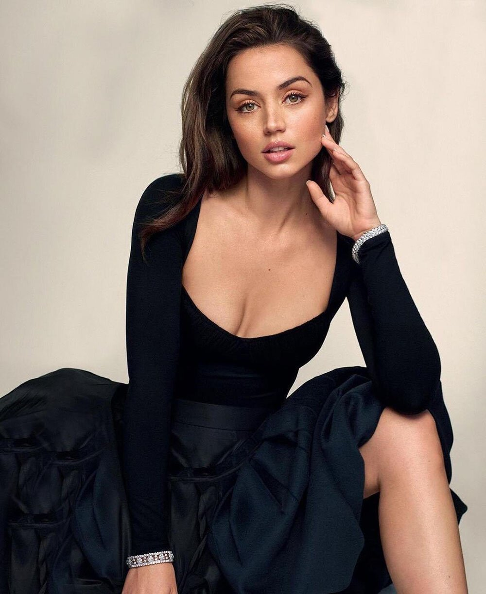 Ana de Armas covers the January 24, 2021 issue of The Sunday Times Style UK Magazine. Photographed by Thomas Whiteside