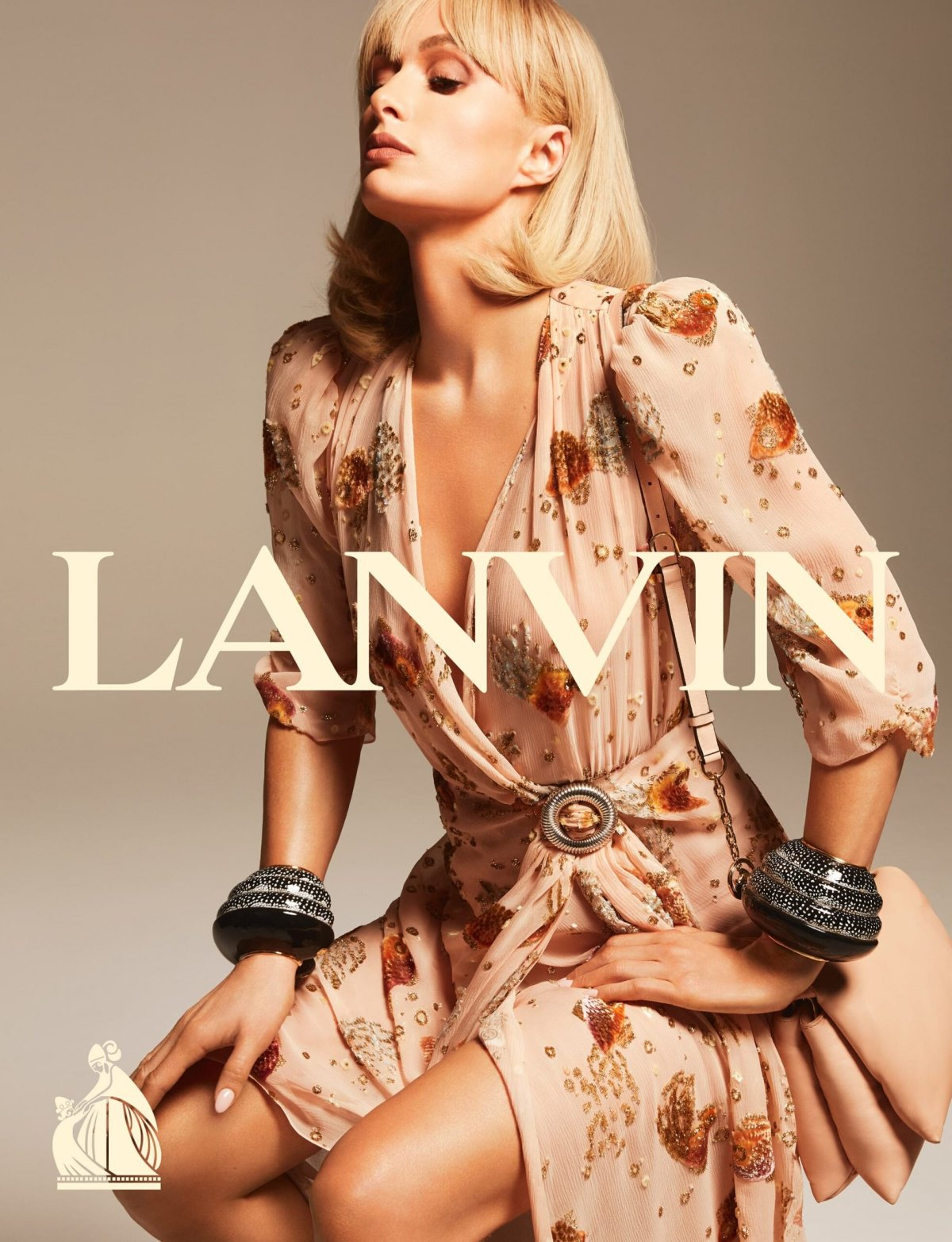 Paris Hilton for Lanvin Spring 2021 Campaign. Photographed by Mert & Marcus.
