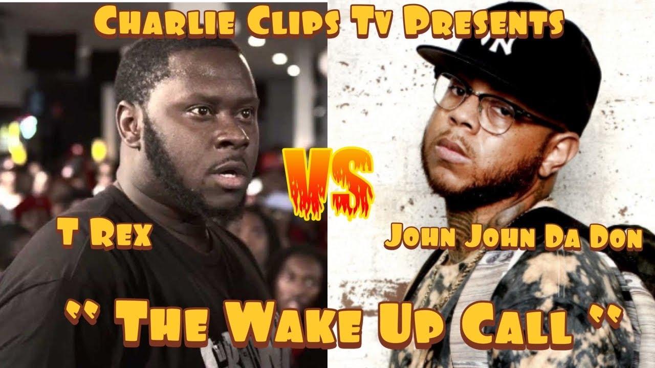 JOHN JOHN DA DON VS T-REX (THE WAKE UP CALL) BATTLE RAP MOVIE!!!!