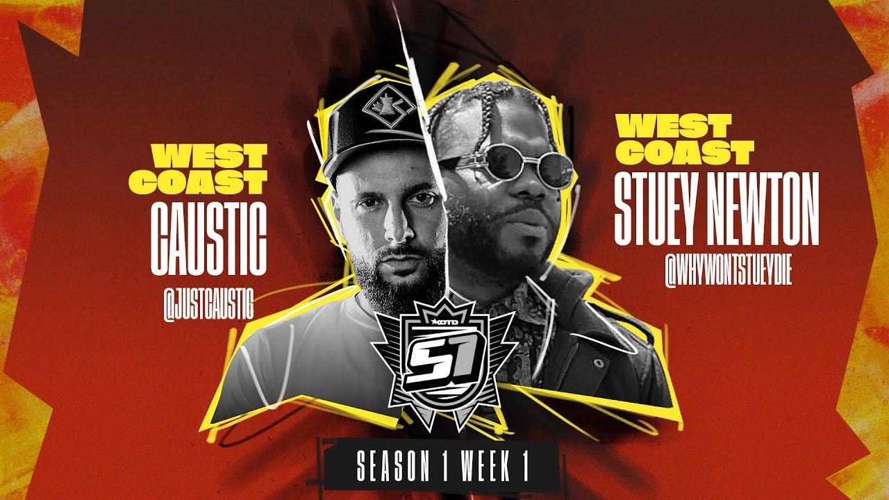 KOTD - Rap Battle - Caustic vs Stuey Newton | S1W1