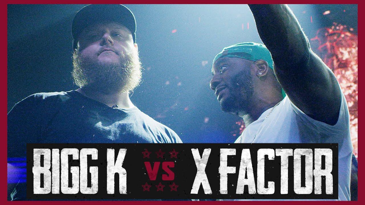 BIGG K VS X FACTOR RAP BATTLE - RBE
