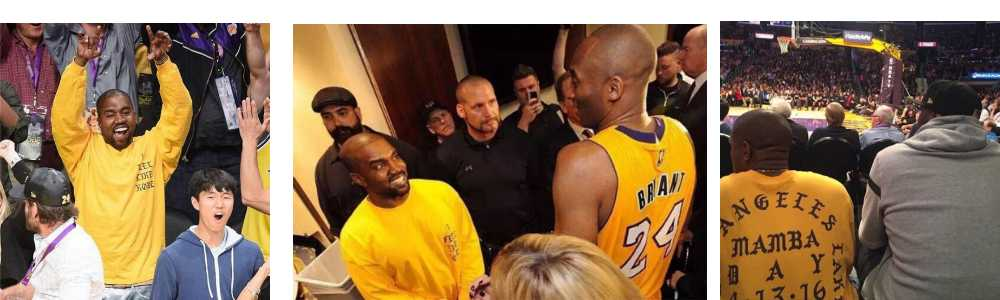 kanye west with kobe shirt