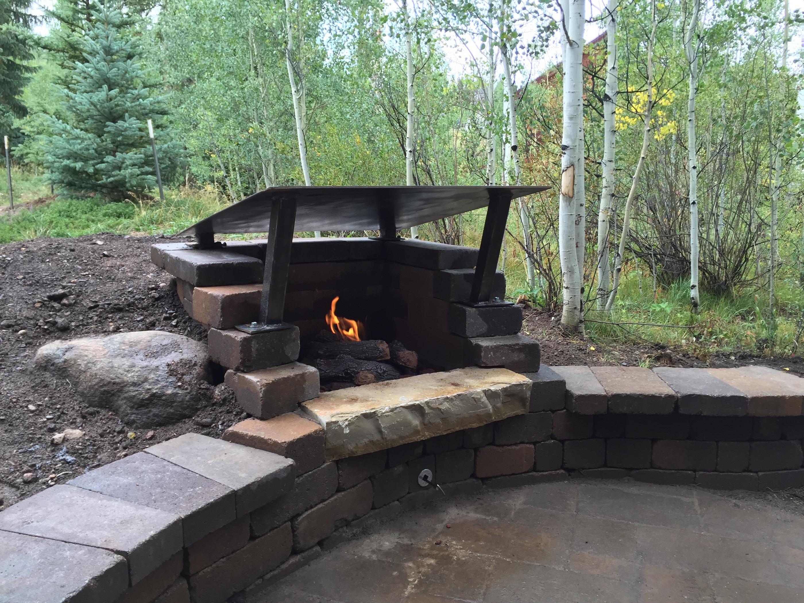 outdoor firepit builder summit county colorado