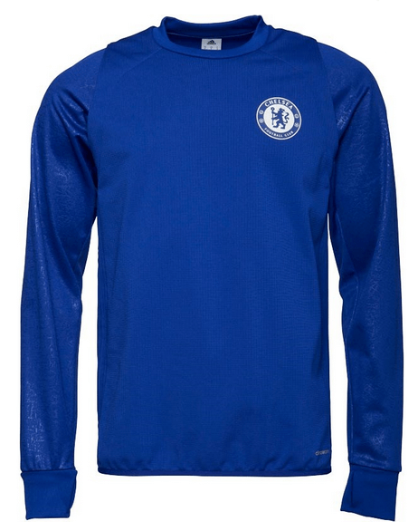 adidas Mens CFC Chelsea Climawarm Long Sleeve Training Top Chelsea Blue