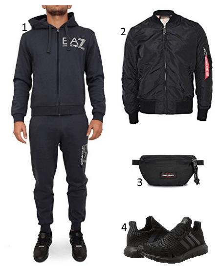 eeea0d37315c Armani Trainingsanzug Outfit für die Street - HoodSide.de