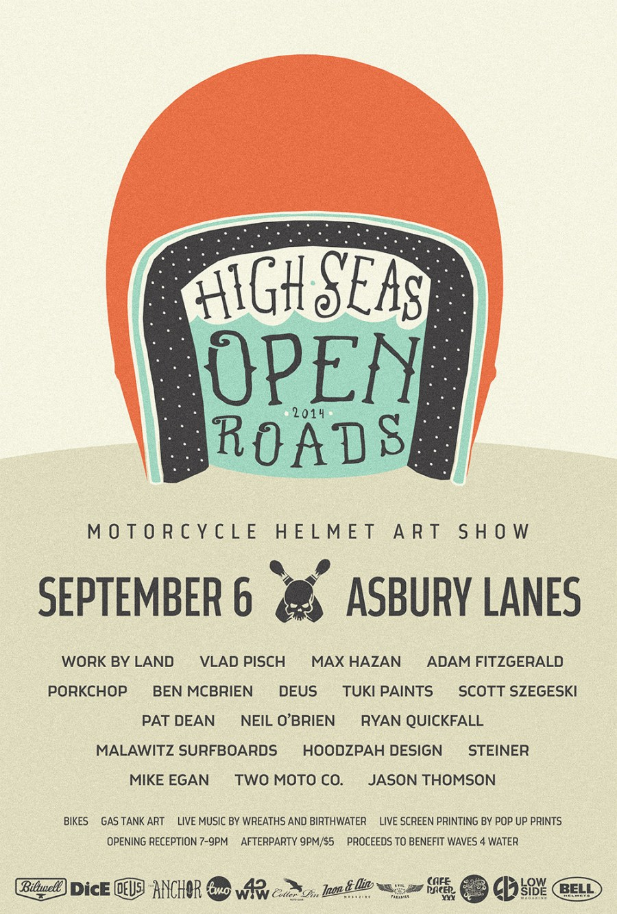 high seas open roads 2014 event poster