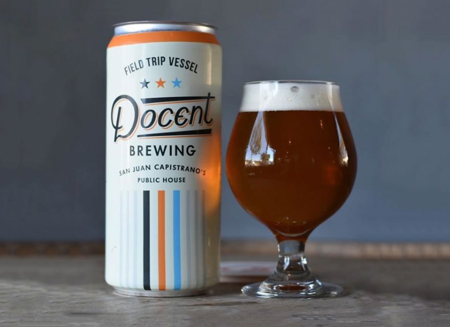 Docent Beer Label Design by Hoodzpah with a frosty beer poured beside it