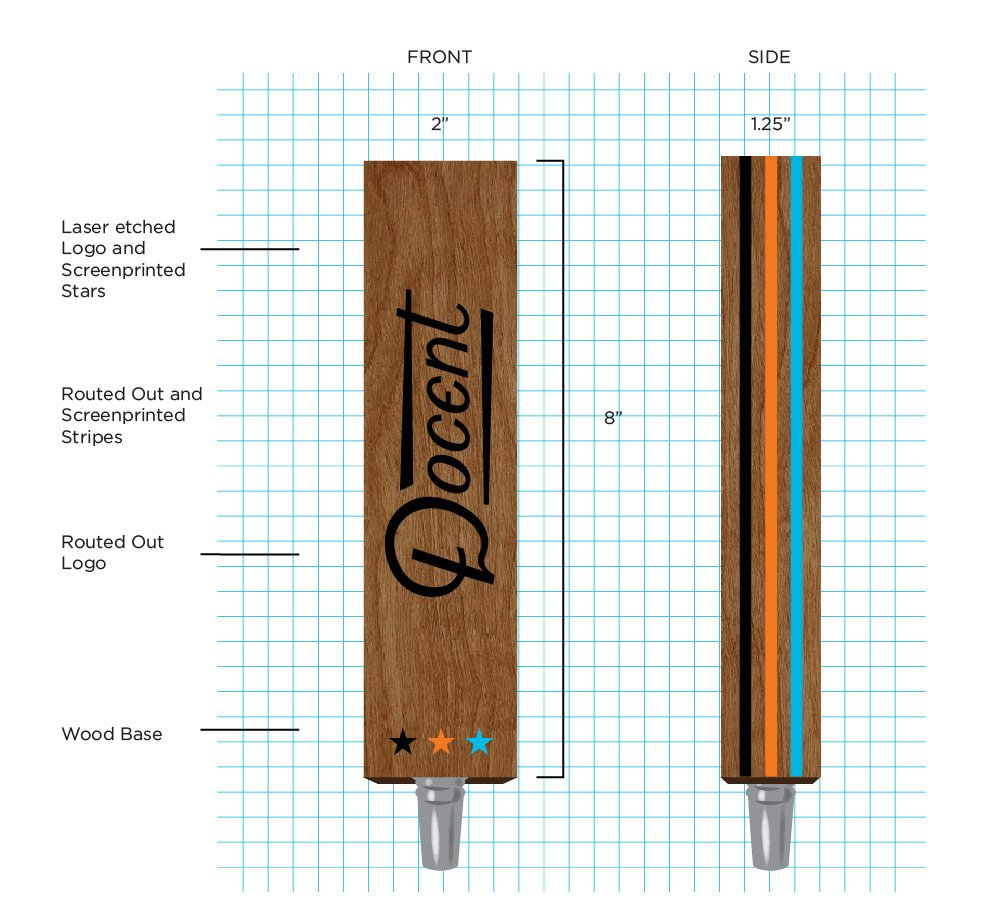 Docent Tap Handle Design by Hoodzpah