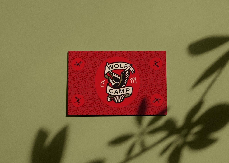 Wolf Camp Studios Tattoo inspired business card by Hoodzpah