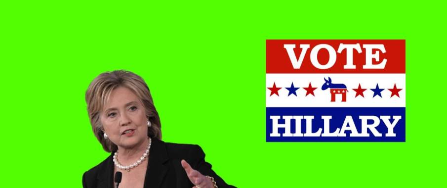 You too can now enter the Hillary Clinton Green Screen Challenge!