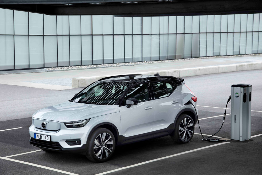 Volvo Xc40 Recharge Awd In Glacier Silver