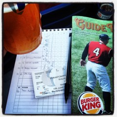 Scorekeeping at a baseball game is still one of life's little things that I really enjoy.