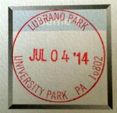 A stamp from one of the parks.