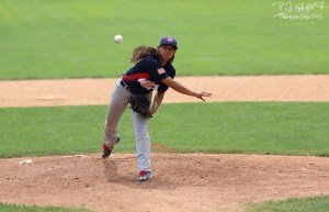 Still in high school... and pitching for Team USA.