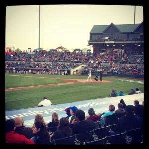 Playing ball at TD Bank Ballpark!