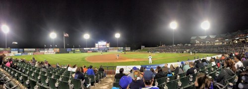 The Somerset Patriots on a nice spring evening.
