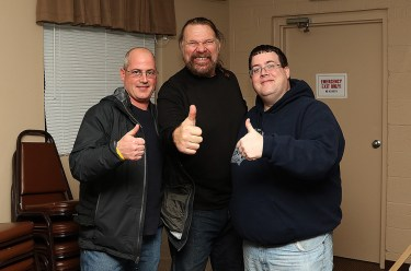 My brother, Hacksaw and me after Duggan's one-man show.