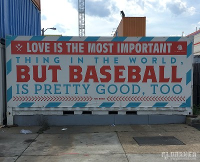 One of the baseball-themed outside the ballpark.