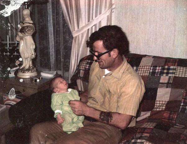 Me as a little one with the old boy.