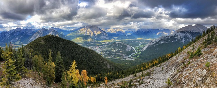 View of Banff from above