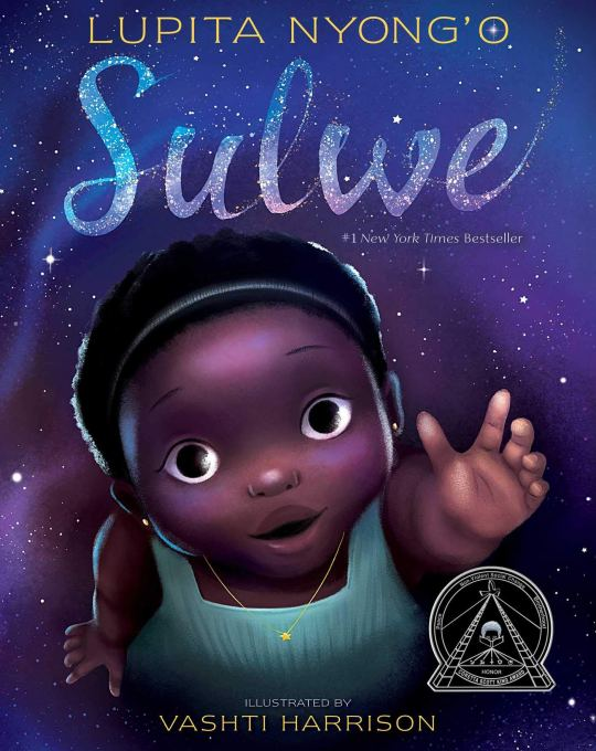 Sulwe picture book. Written by Lupita Ngong'o illustrated by Vashti Harrison. A little girl in the night sky with the stars. A book to build self-esteem, self- acceptance and self-confidence in children.   <img data-attachment-id=