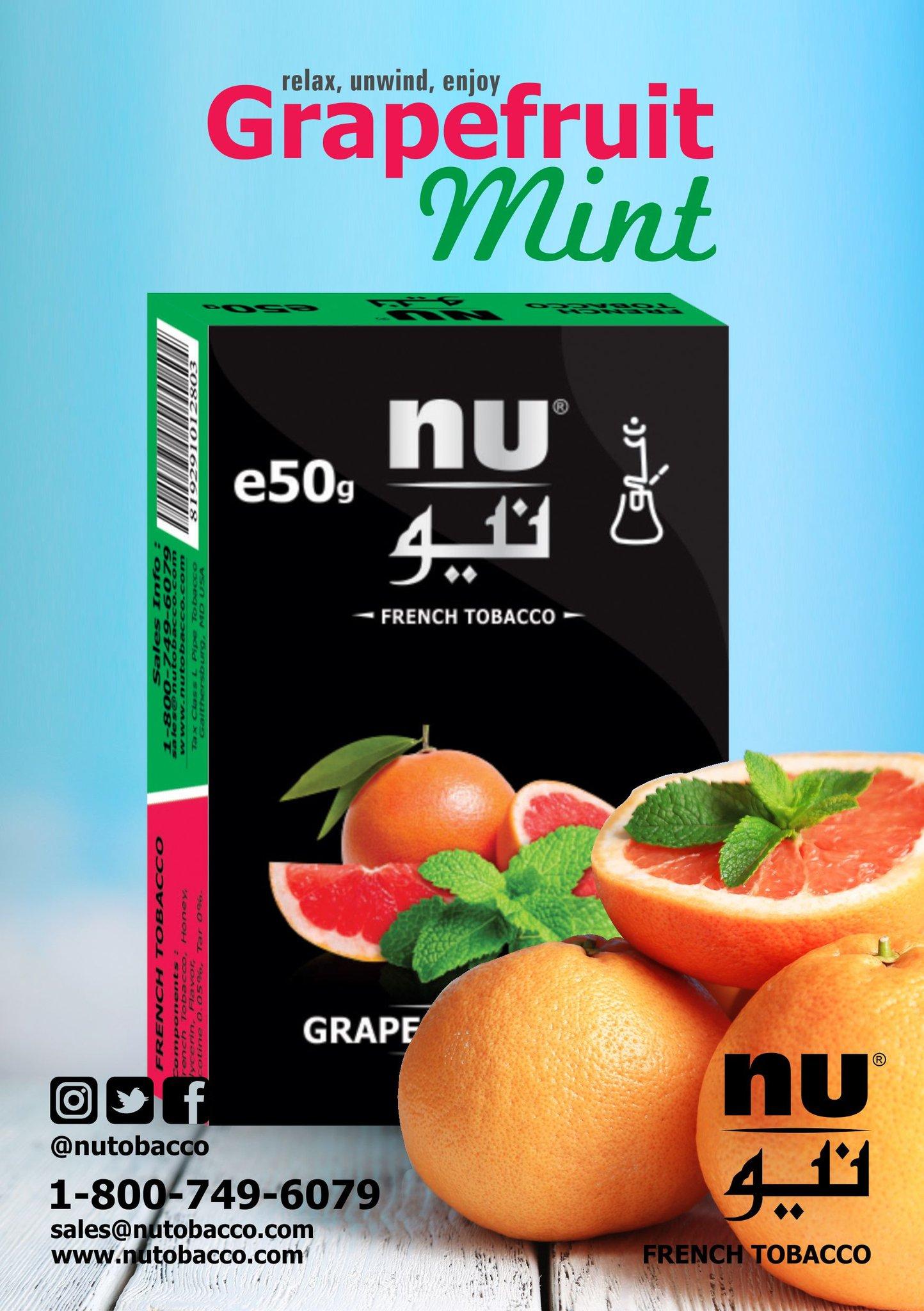 Nu Hookah / Grapefruit Mint(スッキリした酸味の強いGrapefruit系と、そこそこの清涼感)