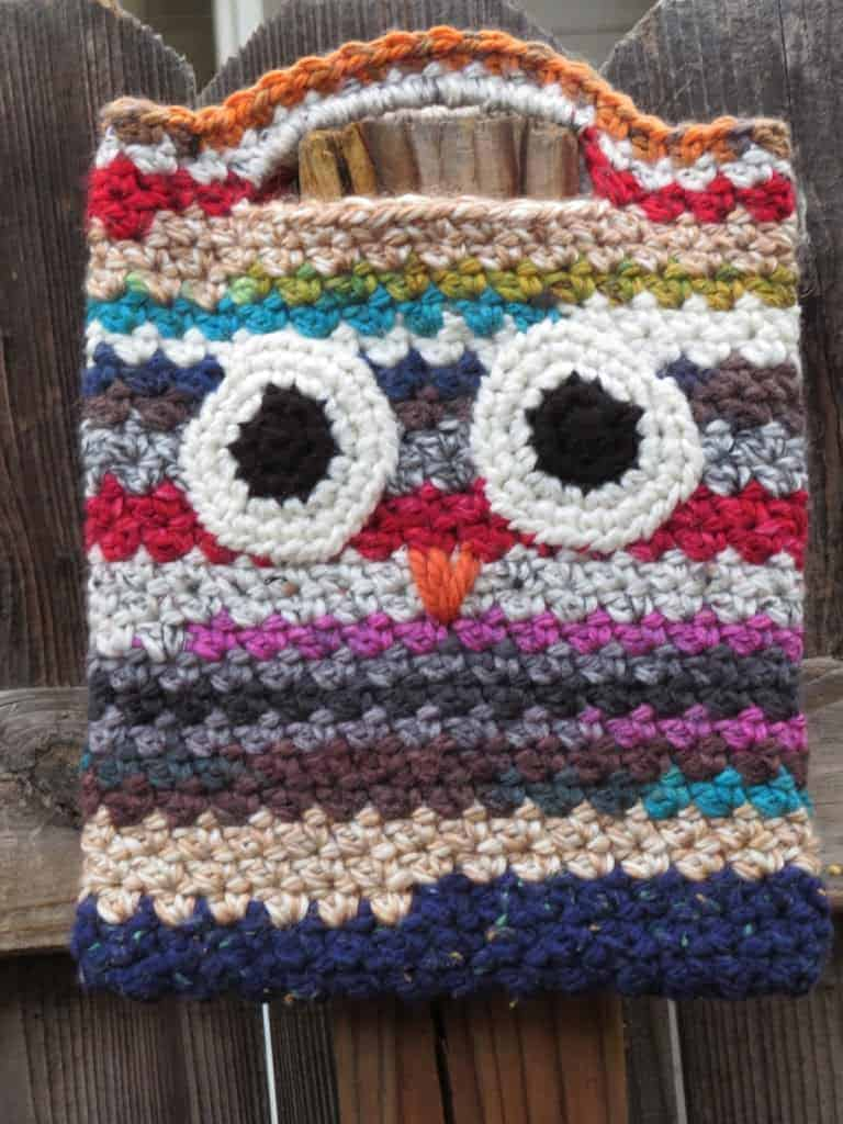 Scrappy Owl Bag Free Crochet Pattern Hooked By Kati