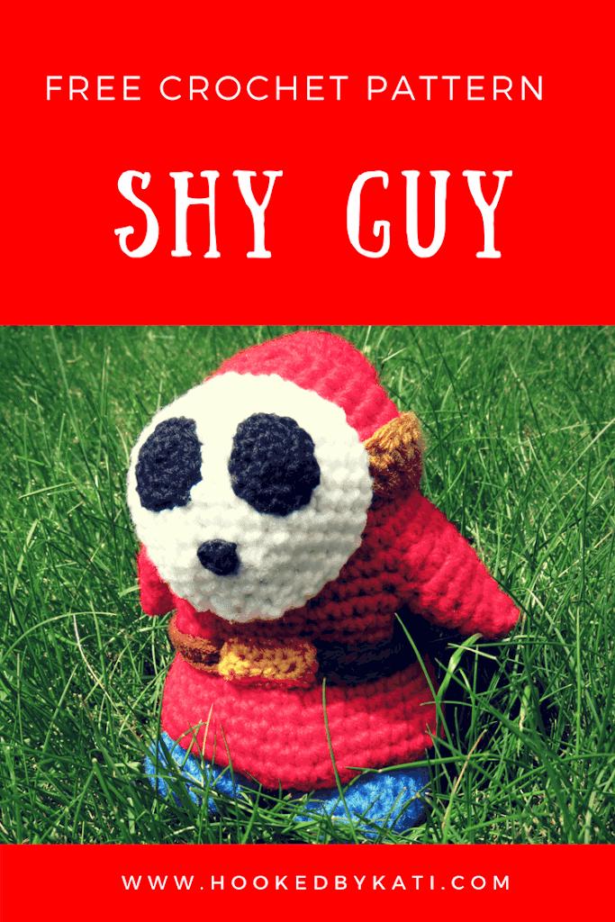 Shy Guy Amigurumi Free Crochet Pattern Hooked By Kati
