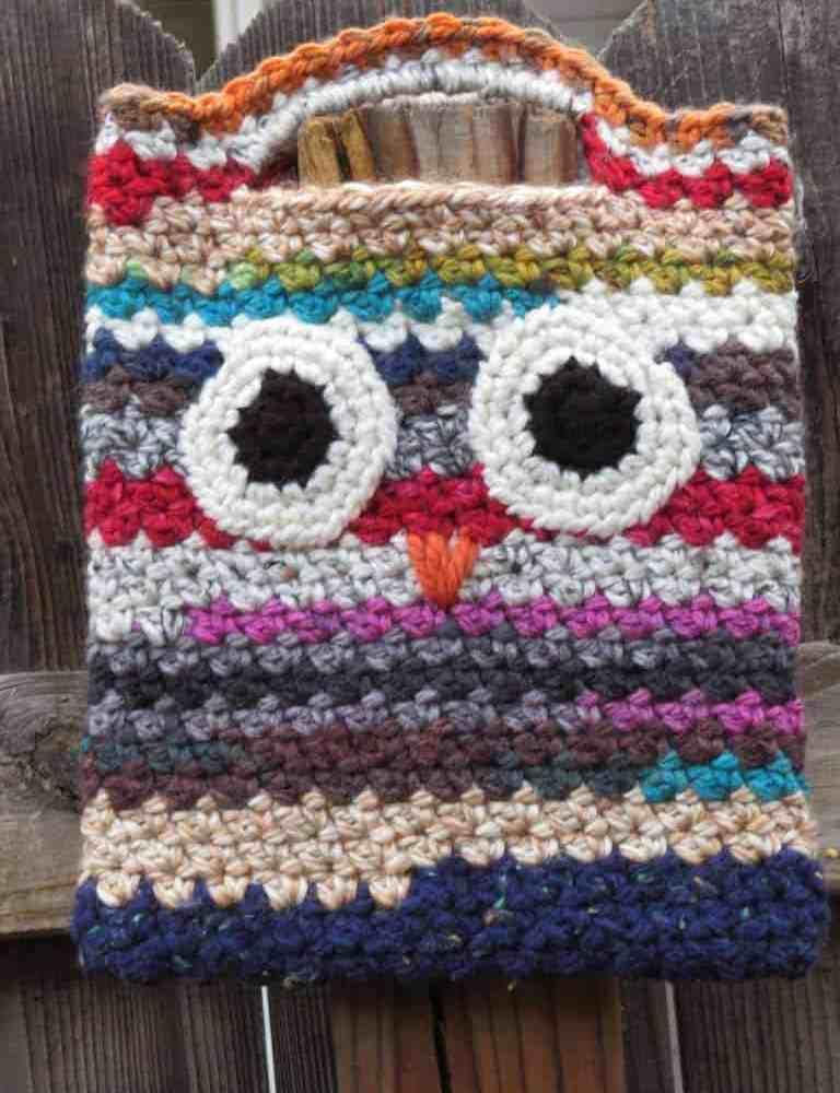 Scrappy Owl Bag Free Crochet Pattern Hooked By Kati