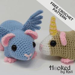Elephants In Love | Free Crochet Pattern | Hooked by Kati