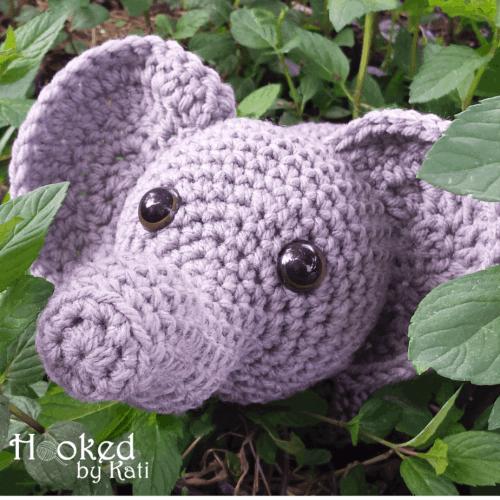Amigurumi Elephant   Free Crochet Pattern   Hooked by Kati