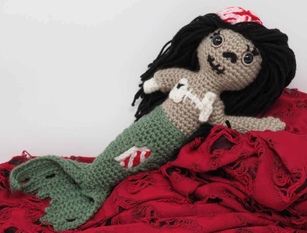 photo regarding Free Printable Crochet Patterns called Necrocia the Zombie Mermaid No cost Crochet Practice Hooked