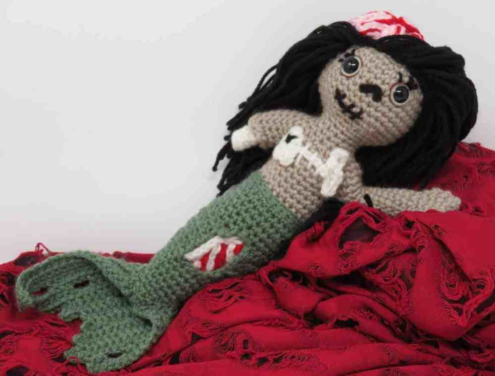 Zombie Mermaid Free Crochet Pattern Hooked By Kati
