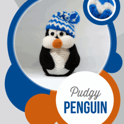 Pattern Pack Pro October 2018 Amigurumi Pudgy Penguin | Hooked by Kati