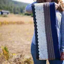 sample stitch scarf happily hooked magazine kati brown