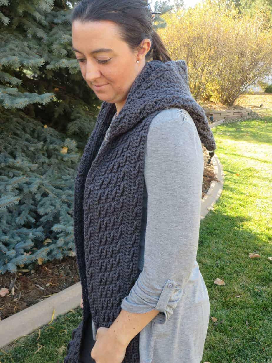 Harvest Waves Hooded Scarf Crochet Pattern Printable Pdf Hooked