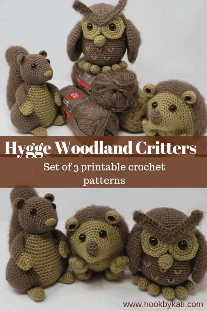 Crochet your own woodland creature ornaments! With a squirrel ... | 1024x683