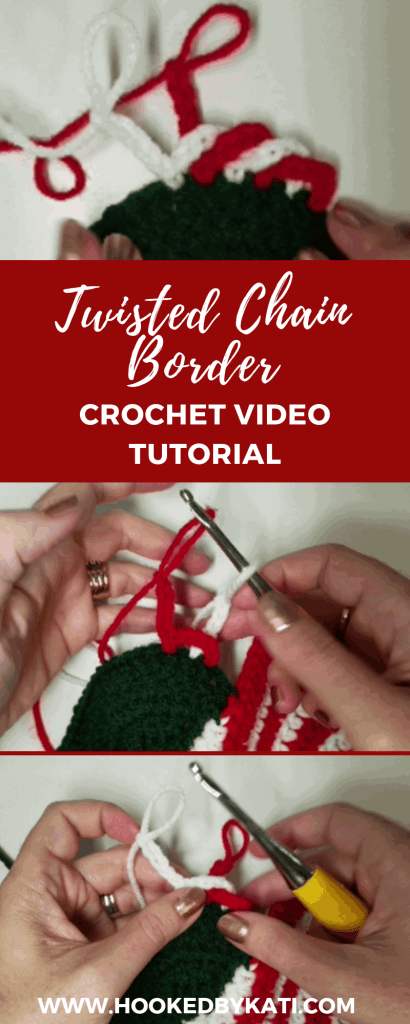 The twisted chain border is a crochet stitch for blankets and home decor accents. This video tutorial will walk you through adding the Twisted Chain Border to the edge of any crochet work.