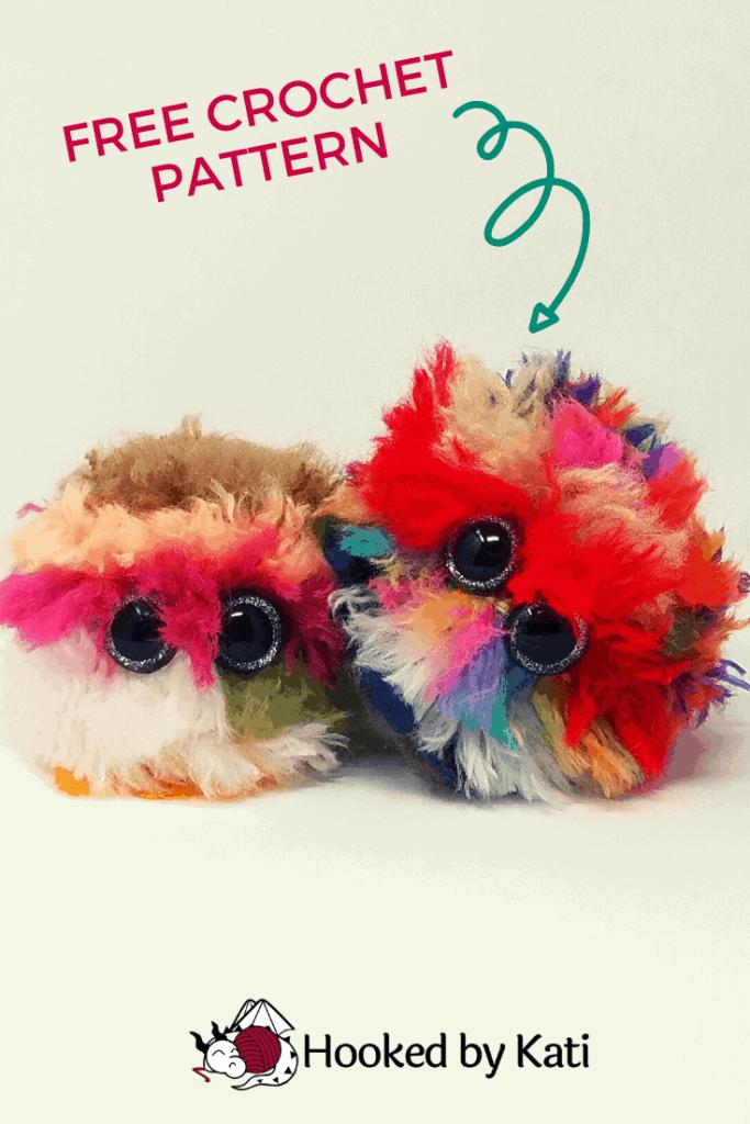 free stash busting amigurumi pattern, crochet a worry pet, pin